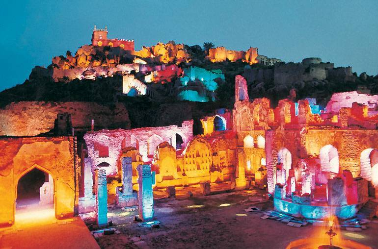 Sound and Light show at Golconda Fort