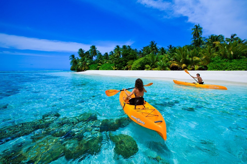Canoeing Maldives