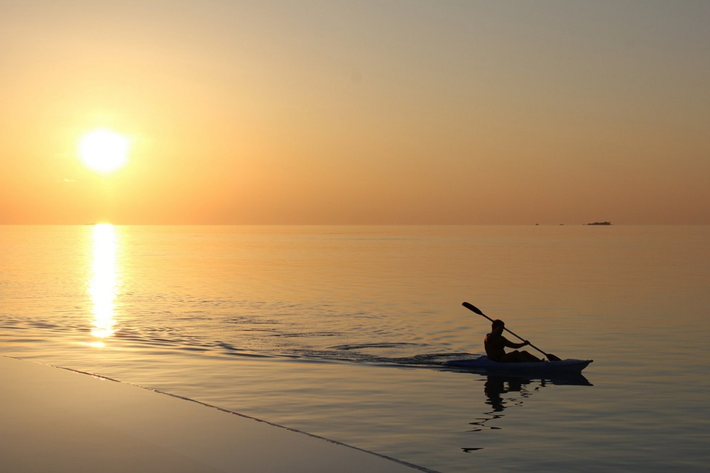 Sunrise Kayak Maldives