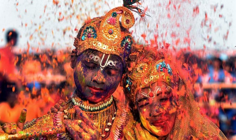 Holi Mathura