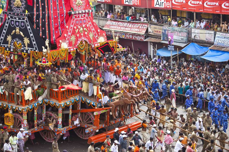 Chariot Pulling on Jagannath Rath Yatra